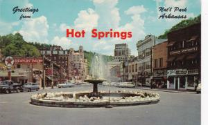 HOT SPRINGS , Arkansas, 40-60s ; Street View, Crystal Water Fountain
