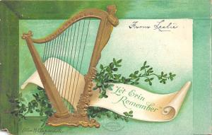 Artist Elln Clapsaddle Let Erin Remember St. Patricks Day Postcard 1908