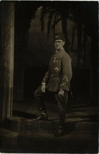 PC CPA ARABIAN TYPES AND SCENES, TURKISH SOLDIER, Vintage Postcard (b17372)
