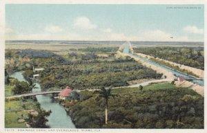 MIAMI  , Florida , 1910s ; Drainage Canal & Everglades