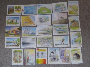 Bu0174 - 25 Cartes Postales par Bd Artiste Rupert Besley - Toutes Montré