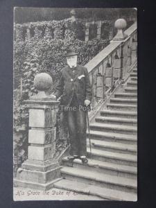 Derbyshire HIS GRACE THE 7th DUKE OF RUTLAND at Haddon Hall near Bakewell c1905