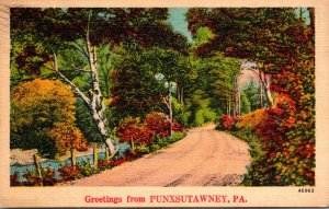 Pennsylvania Greetings From Punxxsutawny 1943