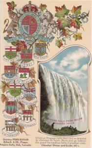 NIAGARA FALLS, Ontario, Canada, 1900-1910's; American Falls From Below, Canad...
