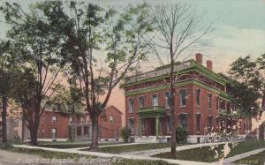 Street view,  St. Joachims Hospital,  Watertown,  New York,   PU_1917