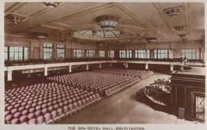 The Spa Royal Hall Bridlington Theatre Stage Vintage Postcard
