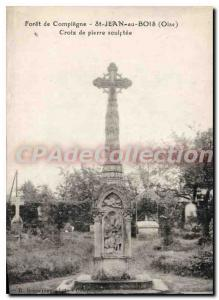 Postcard Old St John Wood Cross Stone