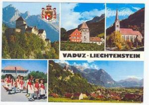 Vaduz, Liechtenstein, 60-70s 5-view postcard