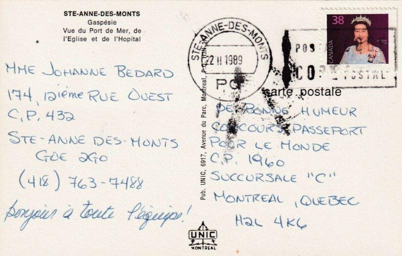 STE-ANNE-DES-MONTS , Gaspesie, Quebec, 1989 ; L'Eglise et de l'Hopital