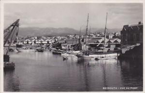 RP: BEYROUTH (Beruit) , Lebanon , 1920-30s ; Vue de port