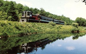 NY - Thendara. Adirondack Scenic Railroad Train, Moose River