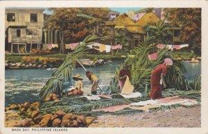 Philippine Islands Wash Day Curteich sk0853a