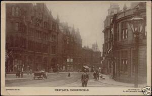 yorkshire, HUDDERSFIELD, Westgate, Hotel (1923) RPPC