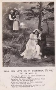 Bamforth Romantic Couple Will You Love Me In December As You Do In May No 3