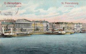 ST PETERSBURG , Russia , 1910 ; Le Quai Anglais