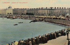 LLANDUDNO, Wales, UK , 1912 ; Launch of the Lifeboat