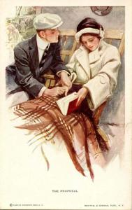 The Proposal... - Artist Signed: Harrison Fisher