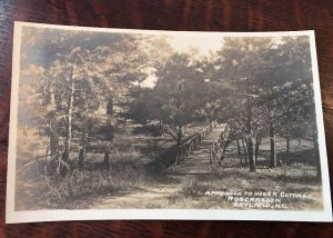 1910s RPPC ROSSCRAGGON Approach to Bungalow Skyland NORTH CAROLINA Postcard RARE