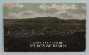 1900s Sturgis South Dakota Birdseye Aerial View Postcard