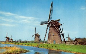 Holland Netherlands Postcard, Dutch Windmill, Hollandsee Molen FL3