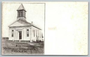 Osage Iowa~Methodist Episcopal Church~ELO~c1910 Woolverton Press~Postcard