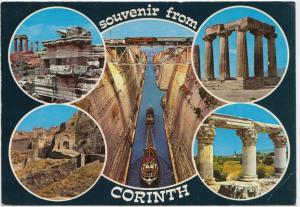 Souvenir from CORINTH, Greece, unused Postcard
