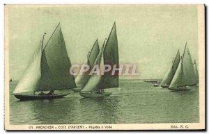 Arcachon Old Postcard Regates has veil