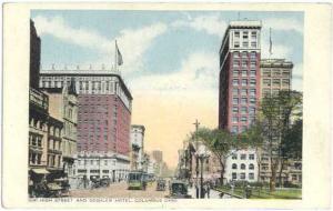 W/B 1041 High Street & Deshler Hotel Columbus Ohio OH