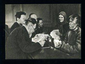 165735 USSR Mikhail KALININ & Peasants 1939 year postcard