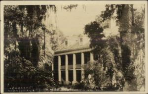 New Iberia LA Mansion SHADOWS c1915 Real Photo Postcard