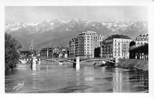 BR10624 Grenoble Pont de la Porte de France et les Alpes    France