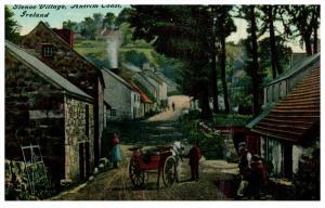 Ireland Glenoe   Main St.  of Village