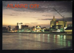 Atlantic City, New Jersey/NJ Postcard, Skyline View Of City After Sunset