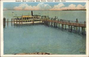 Nahant Beach MA Boston Boat Landing B ass Point c1920 Postcard #2