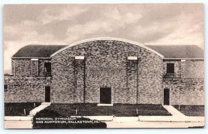 Postcard PA Dallastown Memorial Gymnasium & Auditorium Vintage Linen R42
