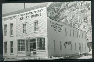 Clear Creek County Court House Colorado co real photo postcard RPPC