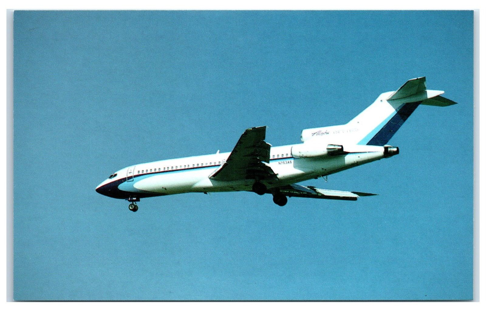 Alaska Airlines Air Cargo Boeing B-727-22C Airplane Postcard