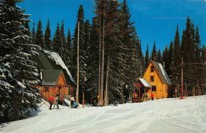 Tollgate Oregon Spout Spring Ski Area Snow Scene Vintage Postcard K57479