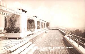 Mexico Old Vintage Antique Post Card Roof Garden Hotel Del Prado Real Photo, ...
