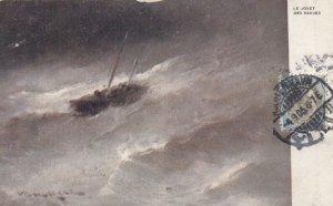 TUCK : Boat in storm , 1905