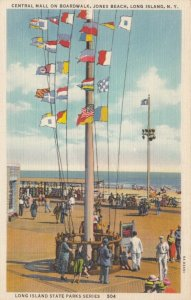 JONES BEACH, Long Island, New York, 30-40s; Central Mall on Boardwalk