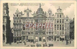 Brussels Old Postcard House of Tailors and Victor Hugo