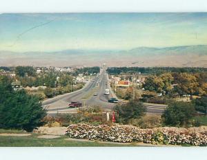 Unused 1950's OLD CARS & CAPITOL BOULEVARD Boise Idaho ID t4715