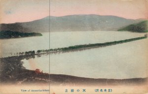Japan View of Amanohashidate Hand Colored 03.78
