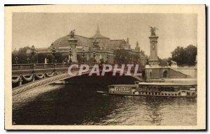 Postcard Old Paris Grand Palais and the Pont Alexandre III Boat Cerebos Salt ...