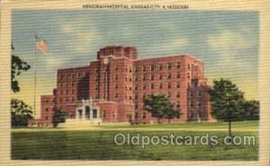 Menorah Hospital, Kansas City, Missouri, USA, Medical Hospital Postcard Postc...