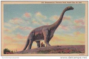 South Dakota Rapid City Brontosaurus Dinosaur Park Curteich