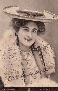 Edwardian Actress Miss Sybil Arundale fancy hat lady, The Milton