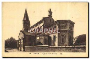 Old Postcard Brive Church of Saint Sernin