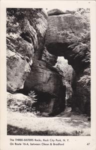 RP, The Three-Sisters Rocks, Rock City Park, New York, 1920-1940s